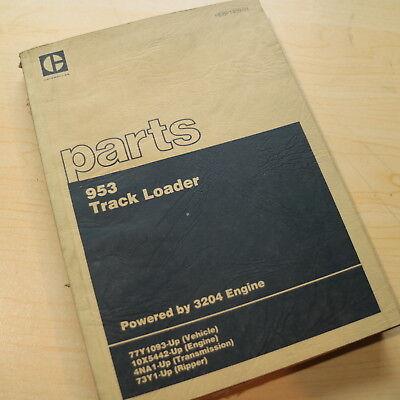 Cat Caterpillar 953 Track Crawler Loader Parts Manual Book 3204 Diesel Engine 77