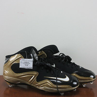 online store 926e9 d81d4 Nike Zoom Merciless Football Cleats High Top Lineman Gold Black Size 15 New