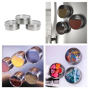 NEW Set of 3 Magnetic Metal Ikea Spice Jars Storage Containers RRP $8 North Melbourne Melbourne City Preview