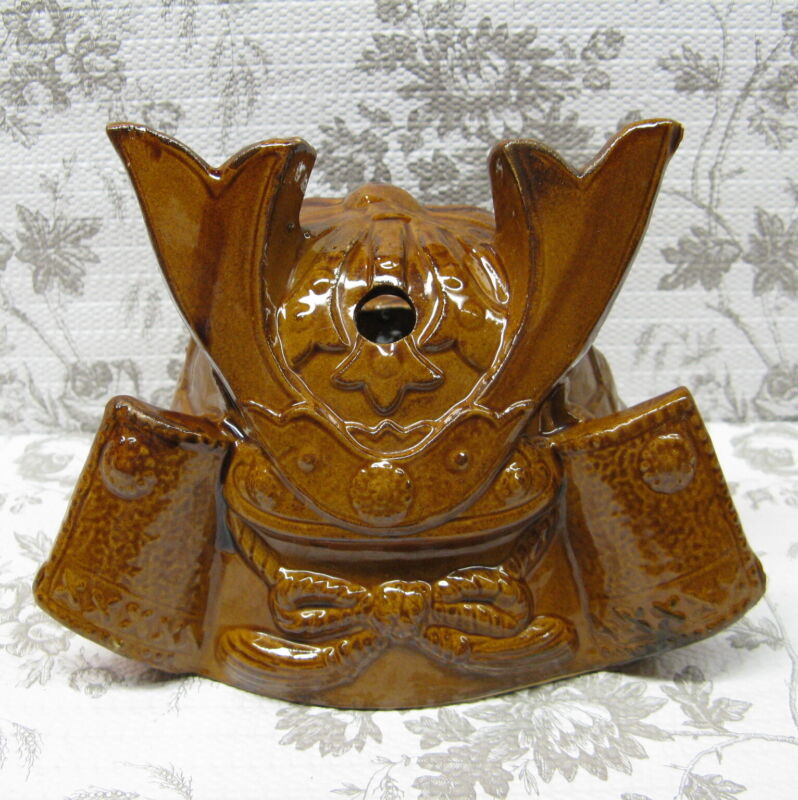 Tiki Mug Vintage Samurai Warrior Helmet Sticker Made In Japan Hawaiian Cocktail