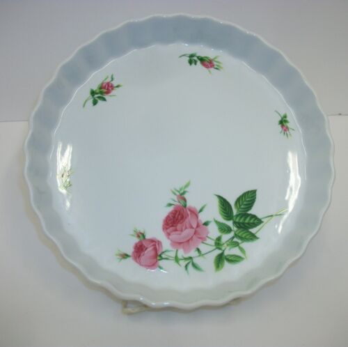 Christineholm Rose Fluted Quiche Pie Dish Plate
