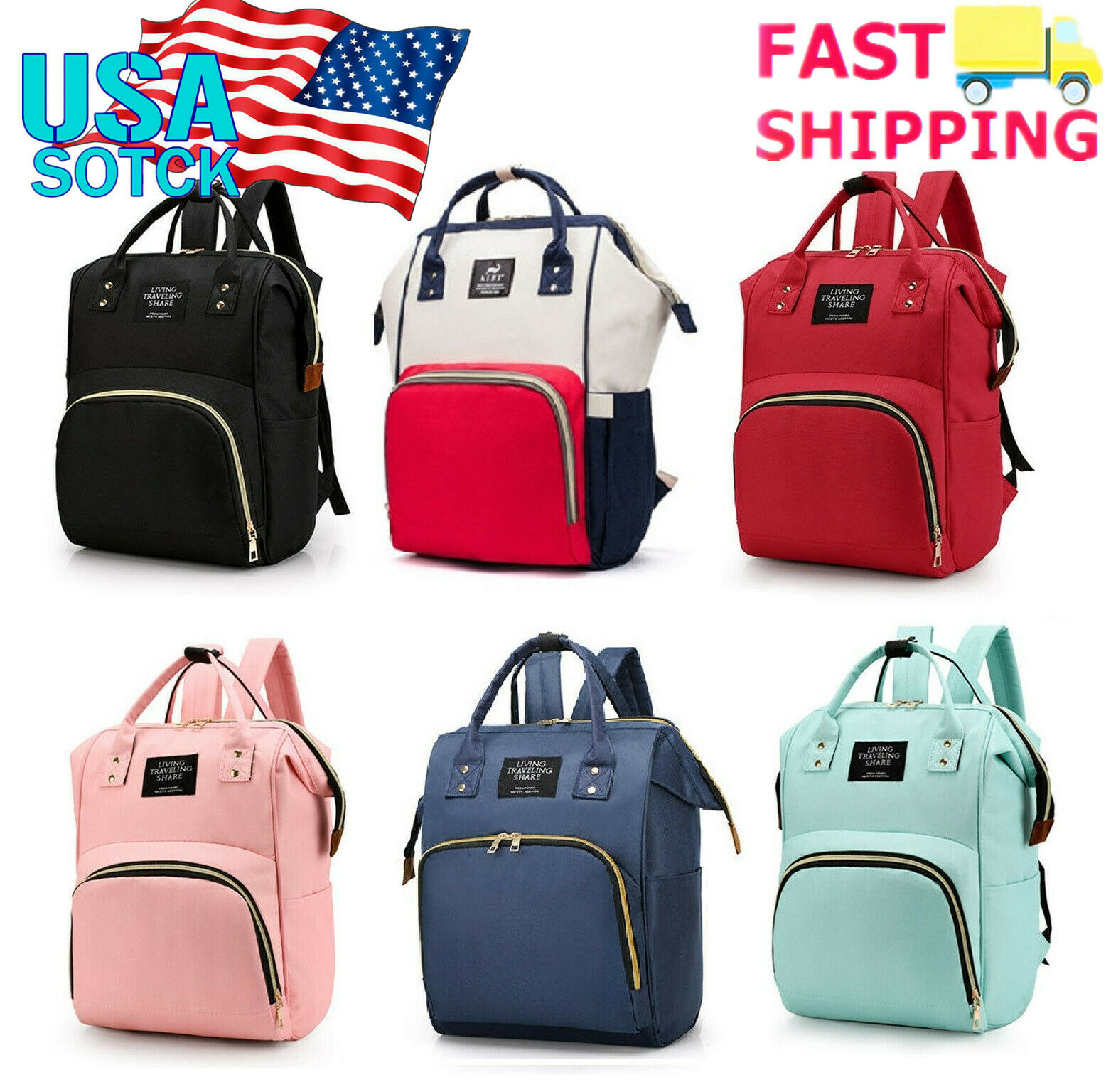 20L Mummy Mom Maternity Nappy Diaper Bag Large Baby Travel Backpack Handbag