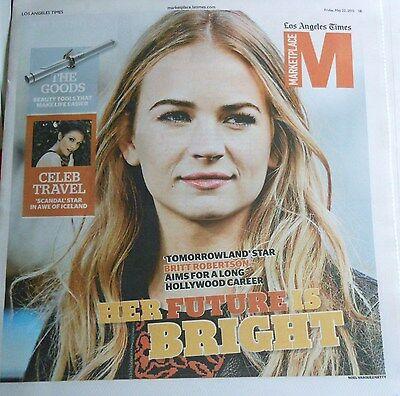 La Times Marketplace Tomorrowland Star Britt Robertson Celeb Travel Iceland