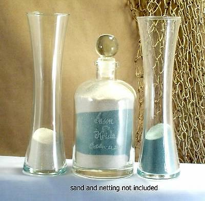 Wedding Unity Sand Ceremony Set Personalized glass top curved vase Euro - Sand Ceremony Vases