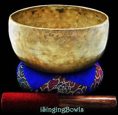 "Antique Tibetan Singing Bowl: Thado 7 3/8"", ca. 18th C., G#-4 & D+4. VIDEO"