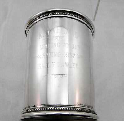 RWR II Solid Sterling Silver Presidential Mint Julep Cup w/MONO-Keeneland 1987