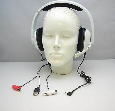 Plantronics GameCom X40 WHITE Gaming PC Headset 83603-01 for Microsoft Xbox 360  for sale  Shipping to India