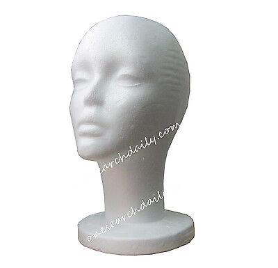 Styrofoam Foam Mannequin Manikin Head Stand Model Display Wig Hair Glasses Hat