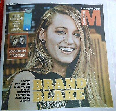 La Times Marketplace May 2015 Blake Lively Brand Fashion Celebrity