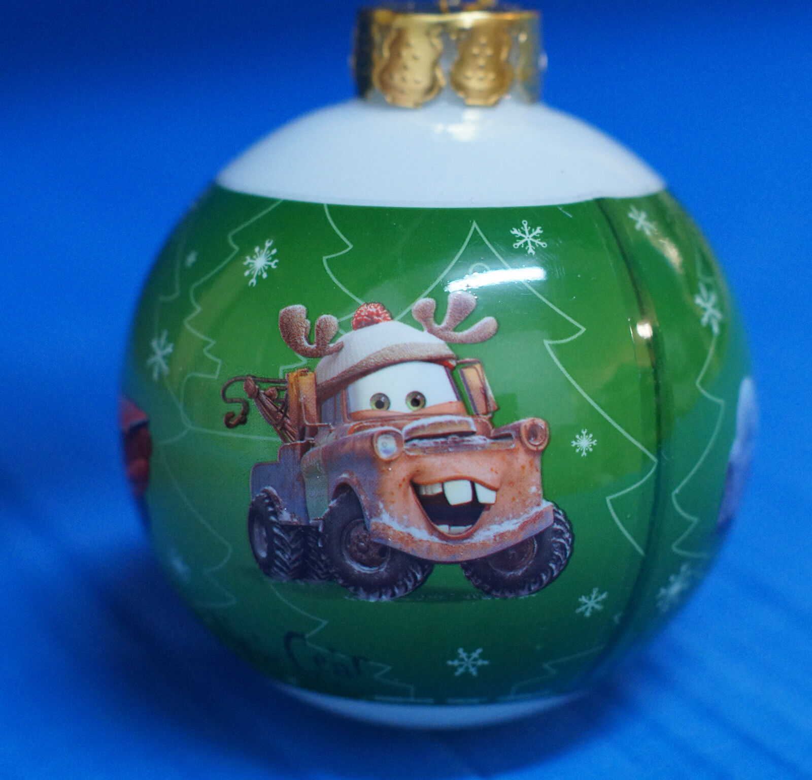 Disney California Adventure Cars Lightning Mater Decoupage Christmas Ornament
