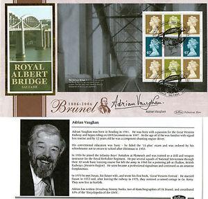 2006-ISAMBARD-KINGDOM-BRUNEL-PANE-SIGNED-ADRIAN-VAUGHAN-BENHAM-FIRST-DAY-COVER