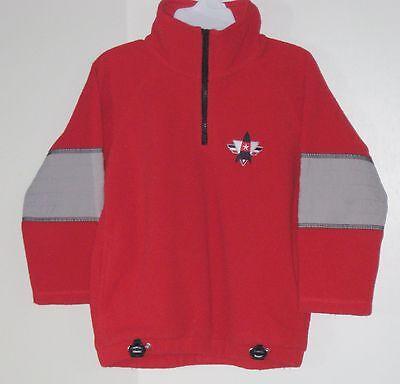 GYMBOREE Size 3 Years Boys Red Fleece Long Sleeve Shirt