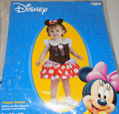 Disney Minnie Mouse Toddler Halloween Costume 12-18 Months by Disguise 2 pc.