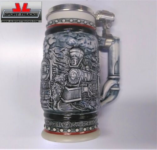 Totally Awesome Vintage Handcrafted In Brazil Train Beer Stein, w/serial number