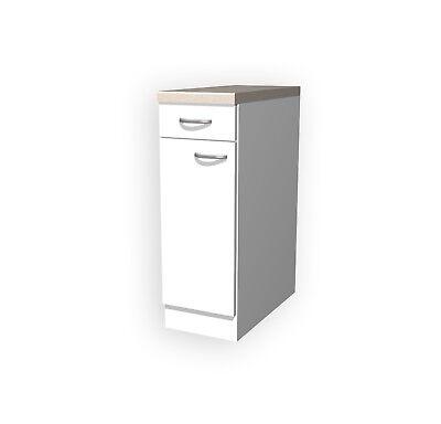 Küchenschrank UNNA Unterschrank Küchenmöbel Küchenunterschrank 30 cm weiss