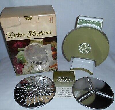 Vintage 1970 Popeil Kitchen Magician Food Cutter Slicer Grater Chopper USA