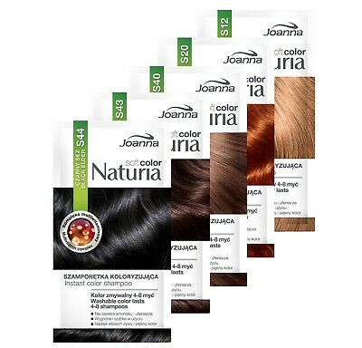 Joanna Soft Color Naturia Instant Hair Colouring Shampoo Dye Sachet 12 Shades UK