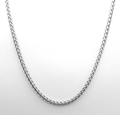 White Gold Braided Necklace - Source 18ct White Gold Braided Wheat Rope Chain Necklace