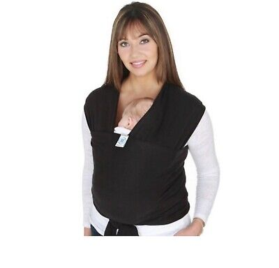 Moby Cotton Wrap Baby Infant Carrier - Black