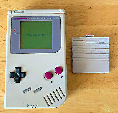 NINTENDO GAME BOY CONSOLE ORIGINAL GAMEBOY DMG-01 GREY 1989 *NO DEAD PIXELS!*