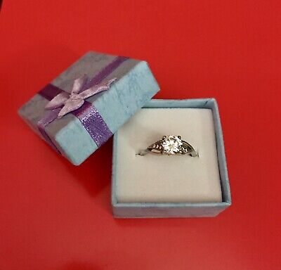 925 Silver Ring Cubic Zirconia Size K