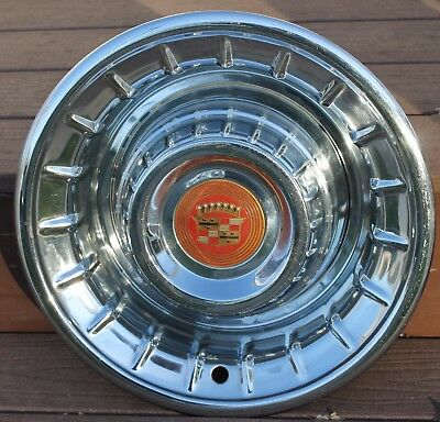 """1956 56 Cadillac 15"""" Hubcap Wheel Cover Cady OEM GM"""