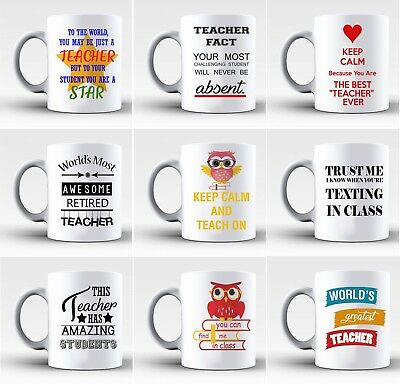 Perfect Funny Best Teacher Mugs Gift Retiring Present Student Pupil Staff