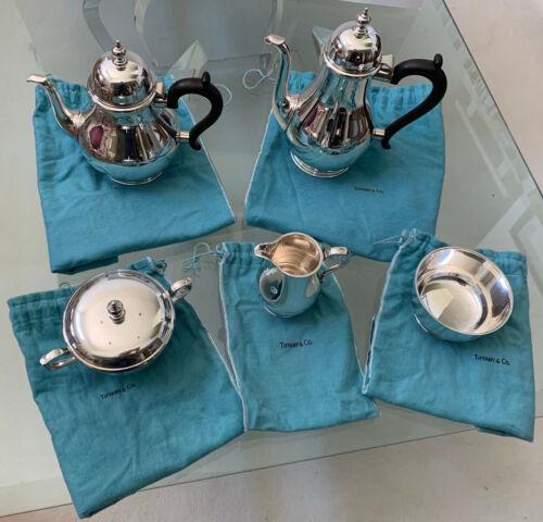 Tiffany Sterling Silver Queen Anne 5-pc Coffee & Tea Service Set - No Monogram