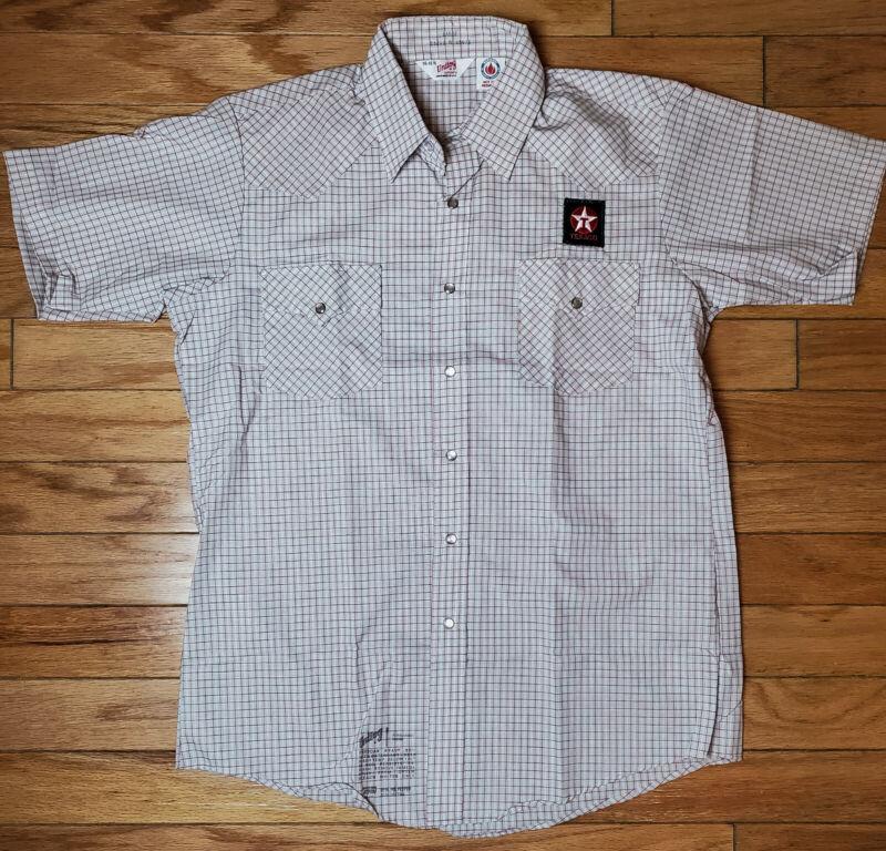 Vintage 80S Texaco Unitog Deadstock Mechanic American Work Shirt Large Brand New