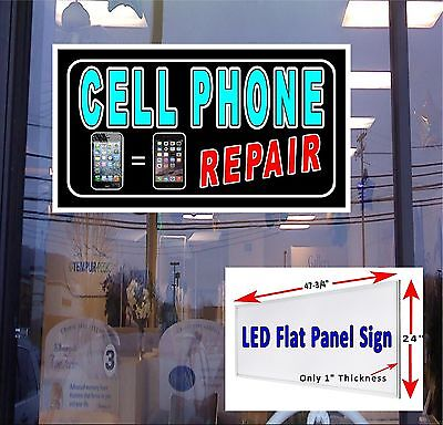 Led Sign Cell Phone Repair 48x24 Window Sign Neon Banner Altern. New Gen Leds