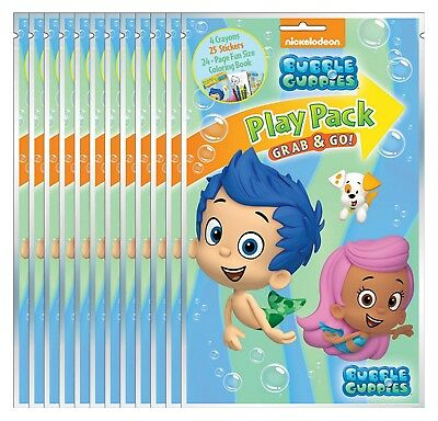 NEW Bubble Guppies Grab & Go Play Packs (Pack of 12) - Party Favors, (Prize Packs)
