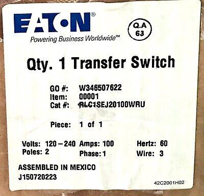 Eaton Rlc1sej20100wru 2 Pole 100 Amp Automatic Transfer Switch 68c8184g57