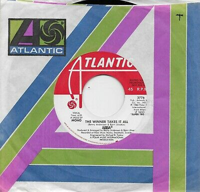 ABBA  The Winner Takes It All  rare promo 45 from 1980