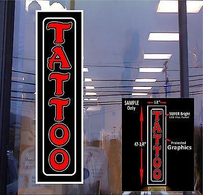 Tattoo Red 48x12 Led Illuminated Window Sign