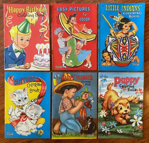 Vintage Saalfield Artcraft Big Little Coloring Books - Your Choice! - Old Stock