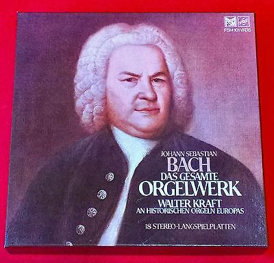 J. S. Bach - Das Gesamte Orgelwerk von Walter Kraft auf hist. Orgeln - 18 LP