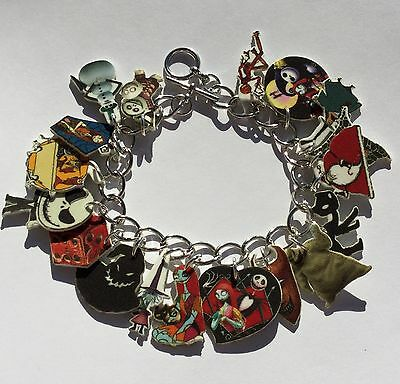 The Nightmare Before Christmas Bracelet Jack Sally and More Charms Adult Size