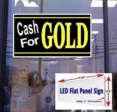 Led Sign Cash For Gold Window Sign 48x24 Neon Banner Alternative New Gen. Led
