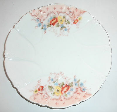 Small Antique Plate Floral Decoration Mid-19th Century Chip on Foot