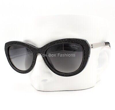 Chanel 6046q 501/S8 Stingray Sunglasses Black w/ Silver Trim Gray Polarized (Stingray Gray)