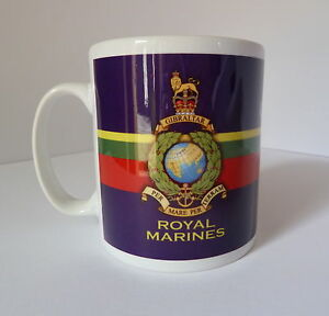 Royal Marine Commando Crest Gift Mug Full Colour Graphic Personalised For Free