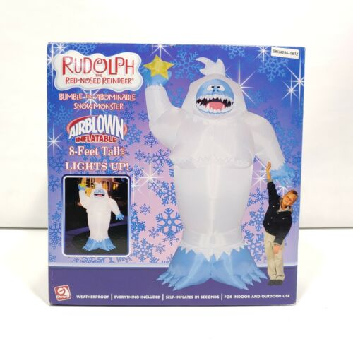 Gemmy Rudolph The Red Nosed Reindeer 8 Feet Tall Inflatable Bumble
