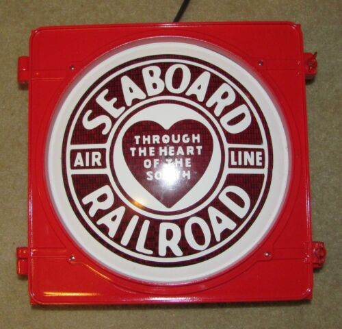 "12"" SEABOARD AIR LINE RAILROAD logo Traffic Signal Light red lens Novelty (B)"