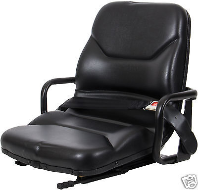 Black Seat With Hip Restraints Caterpillar Forkliftmitsubishitelehandler Zy