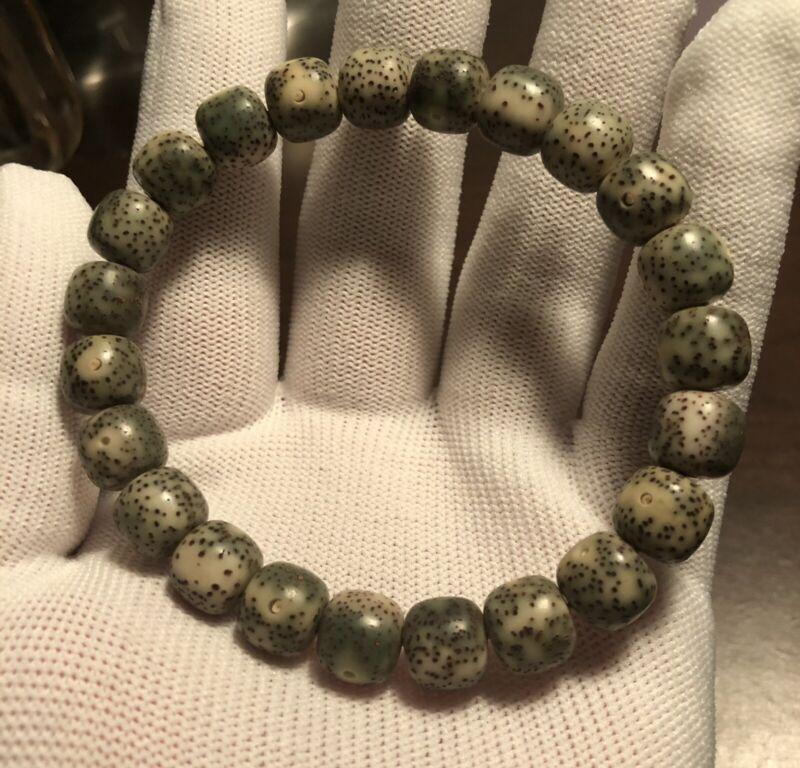 10×9mm 石玉料 Star & Moon Bodhi Prayer Beads Mala Bracelet 石玉料 纯海南星月菩提籽