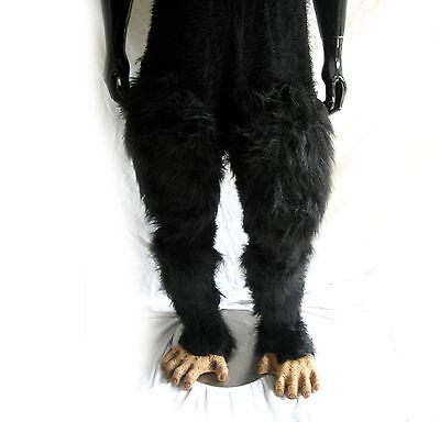 Schimpanse Haarig Hose Affe Beine & Fuß Erwachsene - Schimpanse Fuß Kostüm