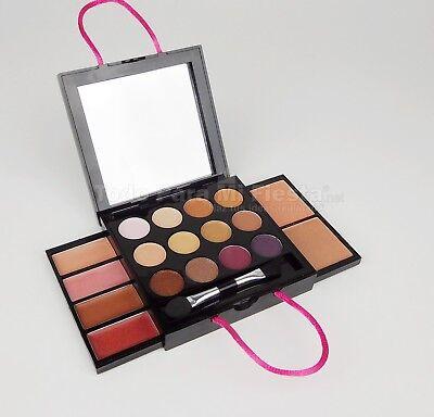 Girls Makeup Kit Set Nudes Eyeshadows Lipgloss Blush Applicator Brozer (Nude Makeup Kit)