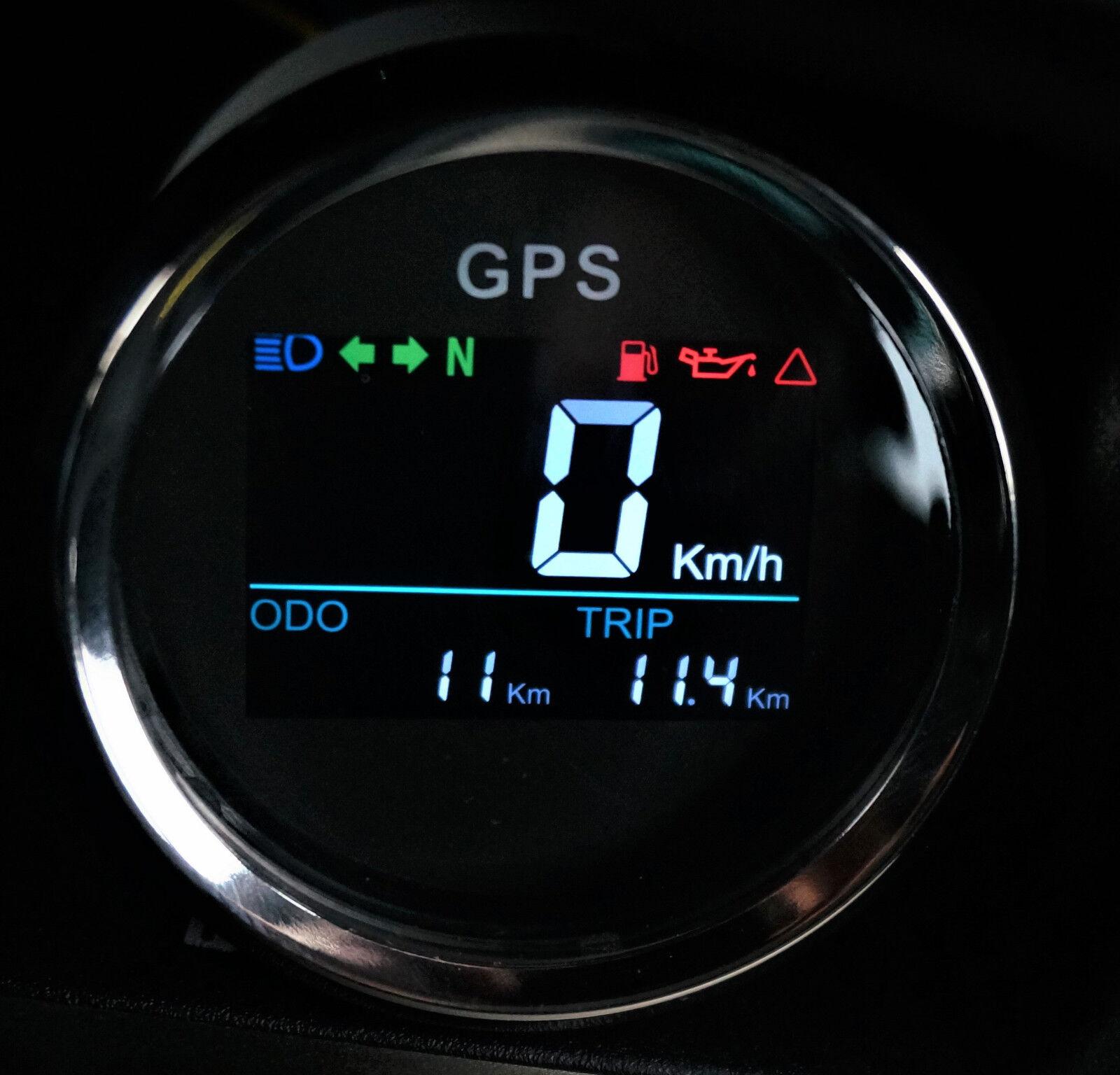 Digital GPS Tachometer Tacho Geschwindigkeitsmesser Sumlog Boot Motorrad 52mm