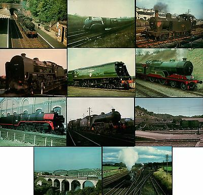 Collection of 11 NEW Locomotive Steam Train Railway Postcards (Job Lot LOCO 100)