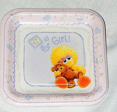 ~SESAME STREET BEGINNINGS BABY SHOWER~GIRLS 8- DESSERT PLATES  PARTY SUPPLIES  - Baby Sesame Street Party Supplies